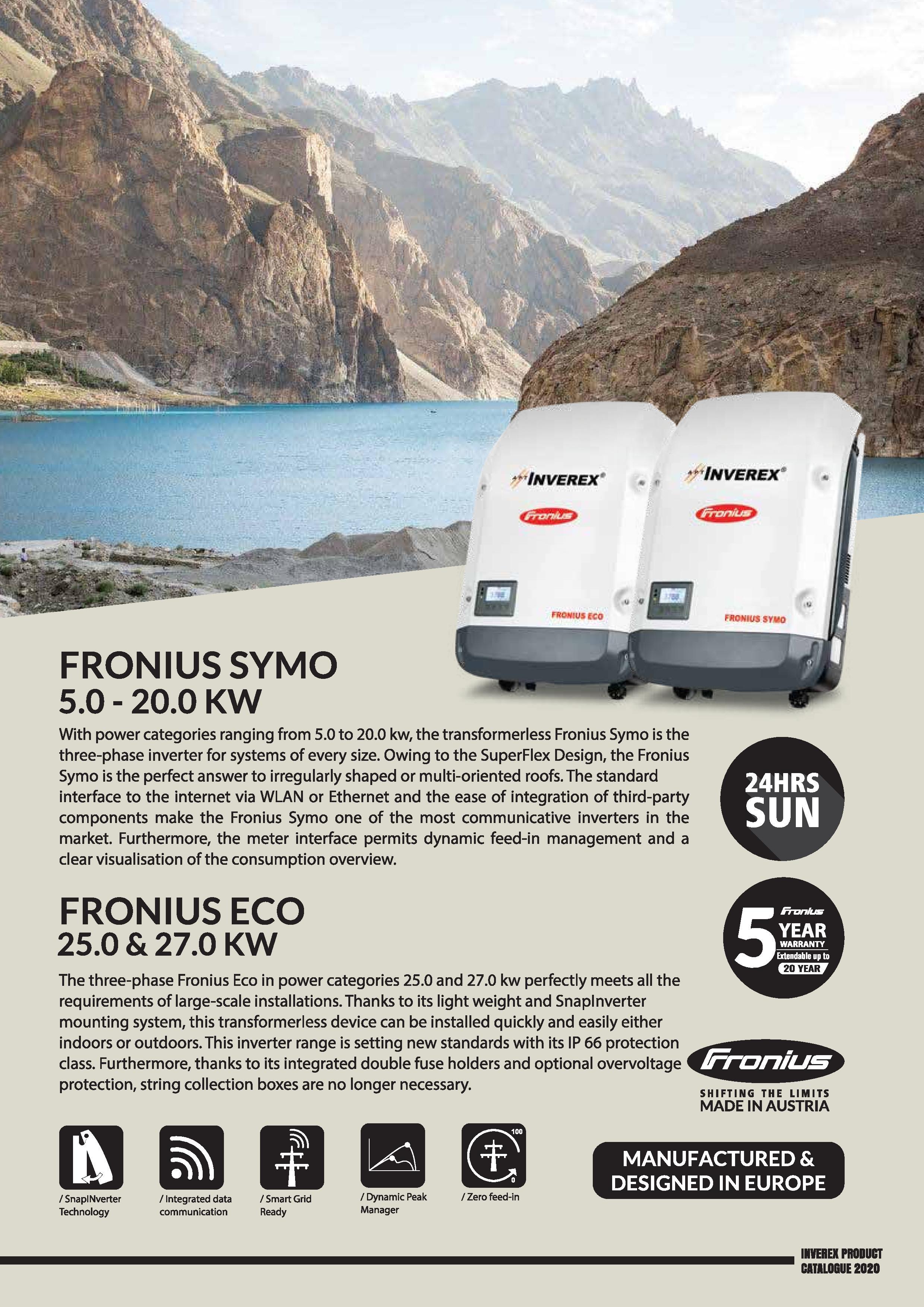 Fronious SYMO,ECO-details